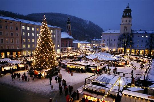 Kerstmarkten Salzburg Salzburg Nu